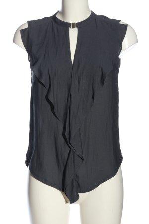 H&M ärmellose Bluse hellgrau Casual-Look