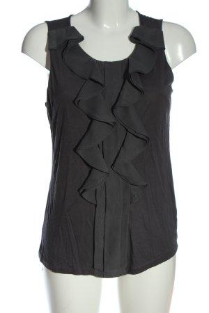 H&M ärmellose Bluse hellgrau Business-Look
