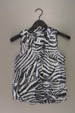 H&M Ärmellose Bluse Größe 34 mit Tierdruck schwarz aus Polyester