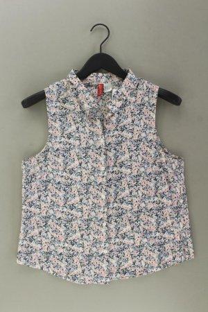 H&M Ärmellose Bluse Größe 38 mit Blumenmuster mehrfarbig aus Baumwolle