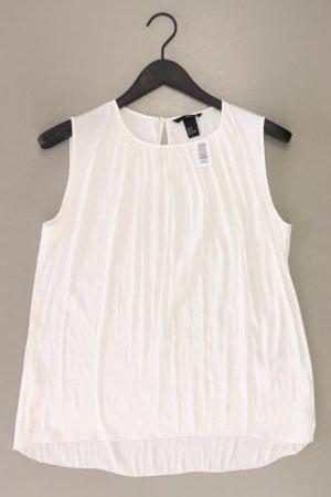 H&M Ärmellose Bluse Größe 38 weiß