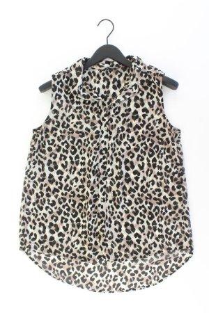 H&M Ärmellose Bluse Größe 40 mit Tierdruck braun aus Polyester