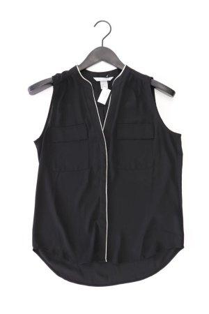 H&M Ärmellose Bluse Größe 40 schwarz aus Polyester