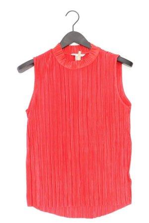 H&M Ärmellose Bluse Größe M rot aus Polyester