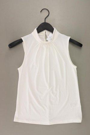 H&M Ärmellose Bluse Größe XS weiß aus Polyester
