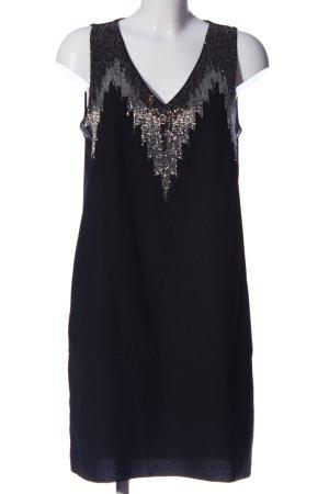 H&M ärmellose Bluse schwarz-silberfarben Elegant