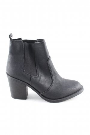 H&M Ankle Boots schwarz Business-Look
