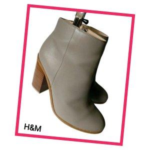 H&M Enkellaarzen grijs-grijs-bruin