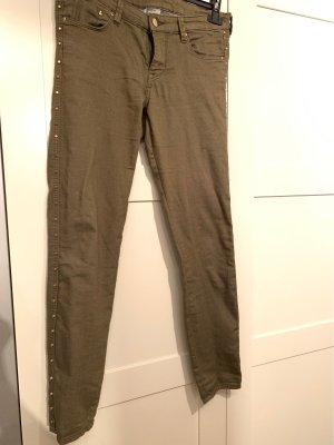 H&M Pantalón de tubo gris verdoso