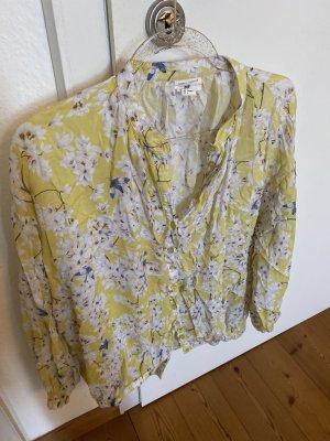 H&M Anna Glover Bluse gelb floral Blumen 34