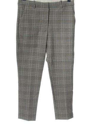 H&M Pantalone da abito grigio chiaro-bianco sporco motivo a quadri stile casual