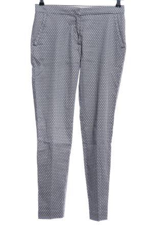 H&M Anzughose hellgrau grafisches Muster Business-Look