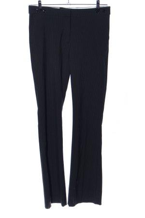 H&M Anzughose schwarz Streifenmuster Business-Look