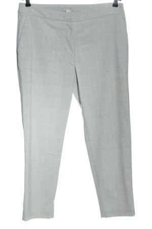 H&M Spodnie garniturowe biały-jasnoszary Wzór w kratkę W stylu casual