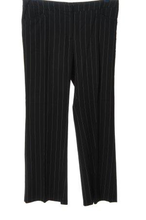 H&M Spodnie garniturowe czarny-biały Wzór w paski W stylu biznesowym