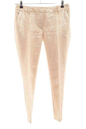 H&M Anzughose goldfarben abstraktes Muster extravaganter Stil
