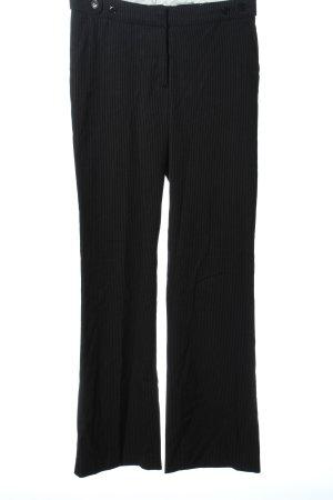 H&M Pantalon zwart-lichtgrijs gestreept patroon zakelijke stijl