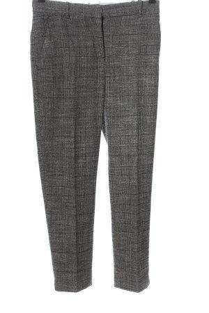 H&M Spodnie garniturowe jasnoszary-czarny Wzór w kratkę W stylu casual