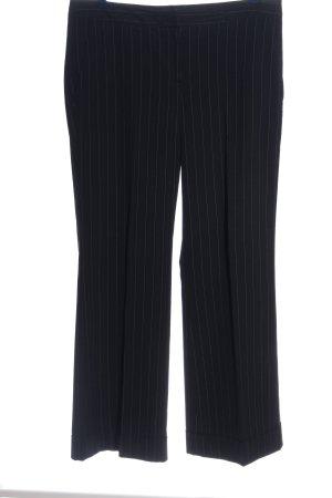 H&M Spodnie garniturowe czarny-biały Na całej powierzchni W stylu casual