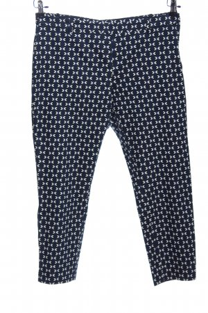 H&M Suit Trouser black-white abstract pattern business style