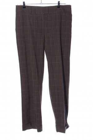 H&M Anzughose braun-wollweiß Karomuster Business-Look