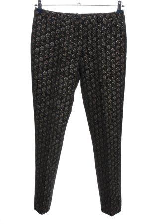 H&M Pantalon de costume noir-doré imprimé allover style décontracté