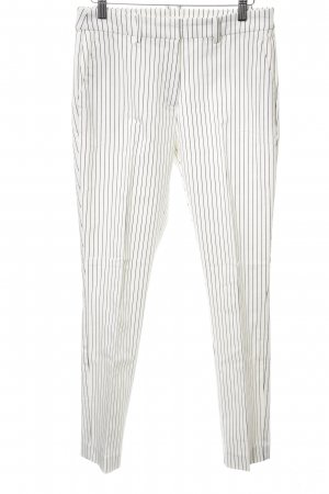 H&M Anzughose weiß-schwarz Streifenmuster Casual-Look