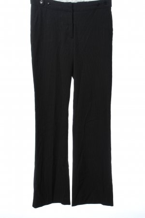 H&M Anzughose schwarz-hellgrau Streifenmuster Business-Look