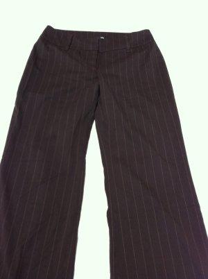 H&M Anzughose, Stoffhose, Nadelstreifen, Gr. 42, dunkelbraun mit Streifen, NEU und ungetragen
