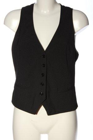 H&M Gilet de costume noir-blanc motif rayé style d'affaires