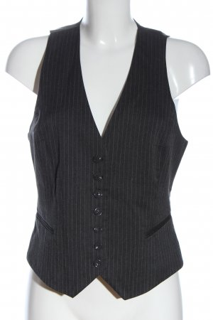 H&M Chaleco de vestir gris claro-blanco look casual