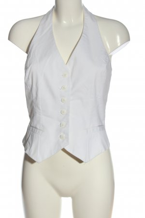 H&M Chaleco de vestir blanco elegante