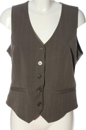 H&M Waistcoat khaki striped pattern business style