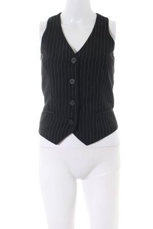 H&M Anzugweste schwarz-weiß Streifenmuster Business-Look