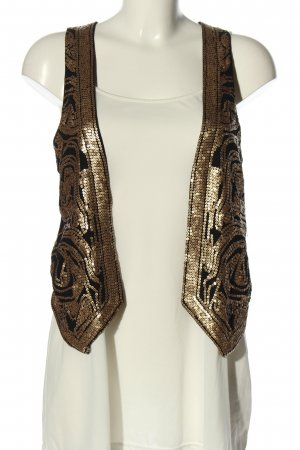 H&M Anzugweste schwarz-goldfarben Elegant
