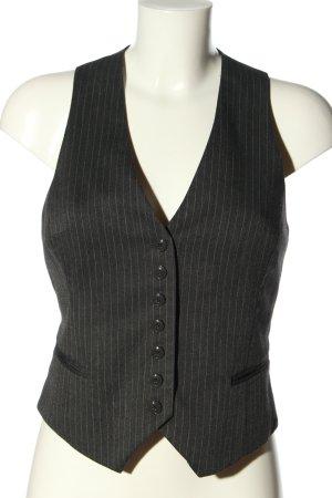 H&M Gilet de costume noir-blanc motif rayé style décontracté