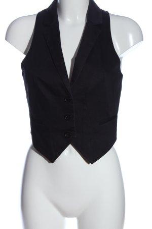 H&M Anzugweste schwarz Casual-Look