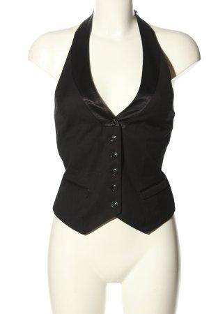 H&M Chaleco de vestir negro look casual