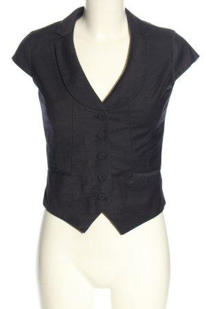 H&M Chaleco de vestir negro-blanco estampado a rayas look casual