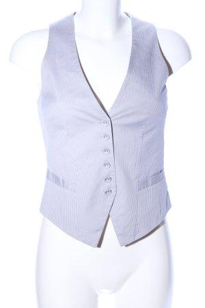 H&M Gilet de costume gris clair-blanc motif rayé style d'affaires