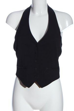 H&M Kamizelka garniturowa czarny W stylu casual