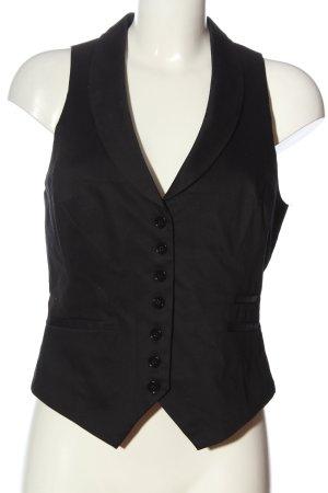 H&M Waistcoat black casual look