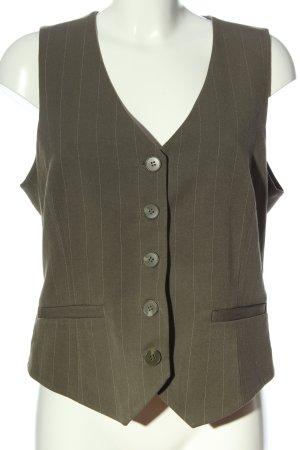 H&M Gilet de costume kaki motif rayé style d'affaires
