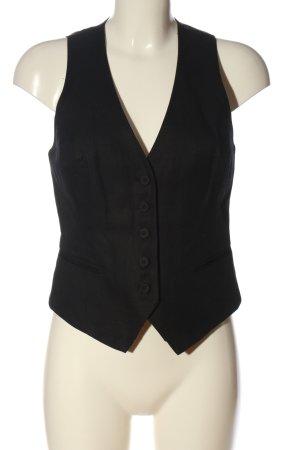 H&M Kamizelka garniturowa czarny W stylu biznesowym