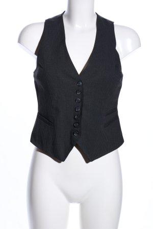 H&M Anzugweste schwarz Streifenmuster Business-Look