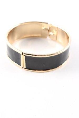 H&M Armreif schwarz-goldfarben Business-Look