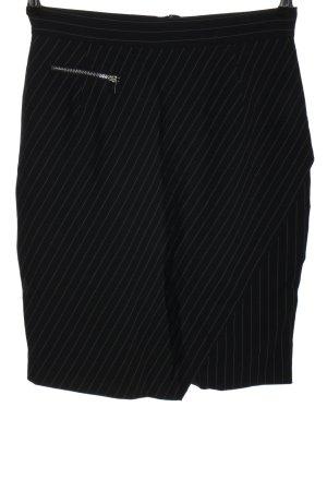 H&M Asymetryczna spódniczka czarny Wzór w paski W stylu biznesowym