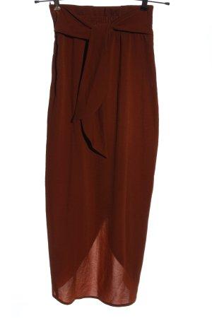 H&M Asymetryczna spódniczka czerwony Elegancki