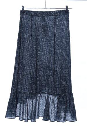 H&M Falda asimétrica azul-blanco estampado repetido sobre toda la superficie