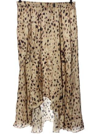 H&M Asymetryczna spódniczka kremowy-brązowy Na całej powierzchni